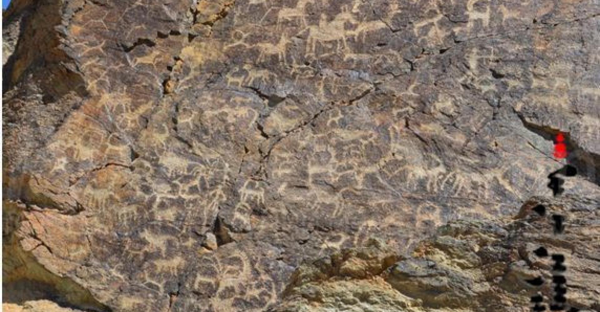 Rock painting of Zuraa